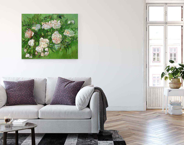Still Life Pink Roses By Jose Maria Velasco