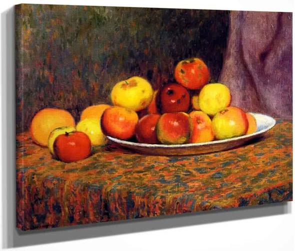 Still Life With Apples By Federico Zandomeneghi