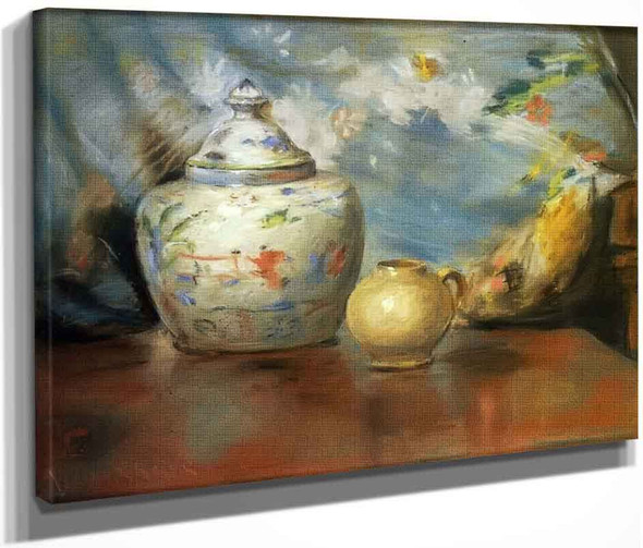 Still Life With Flowers 2 By William Merritt Chase By William Merritt Chase