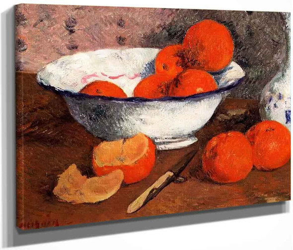 Still Life With Oranges By Paul Gauguin  By Paul Gauguin