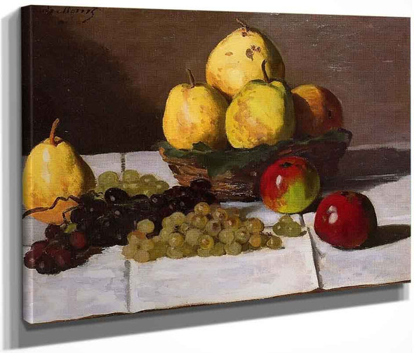 Still Life With Pears And Grapes By Claude Oscar Monet
