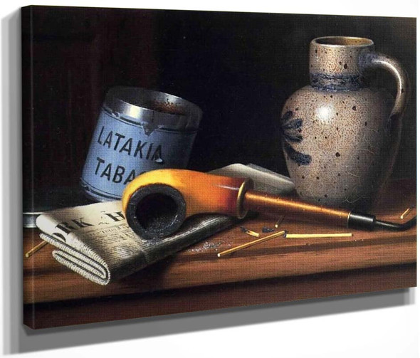 Still Life With Pipe And Tobacco By William Michael Harnett  By William Michael Harnett