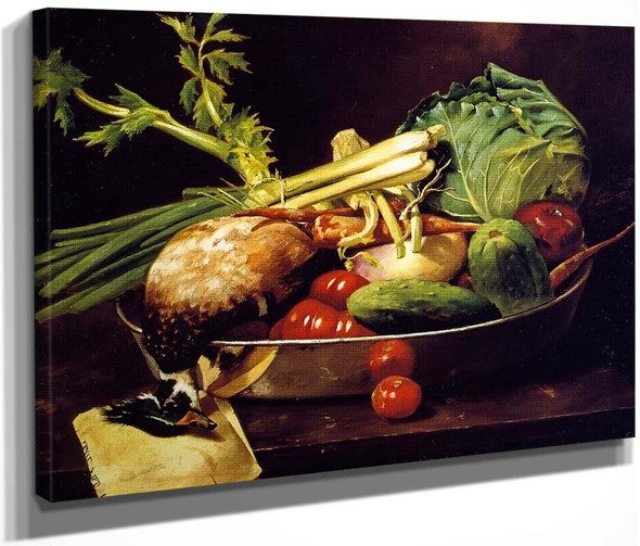 Still Life With Vegetables By William Merritt Chase By William Merritt Chase