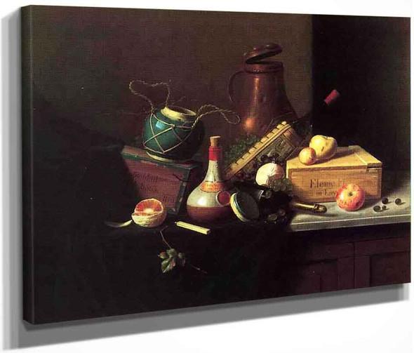 Still Lifebox Of Havana Cigars By William Michael Harnett  By William Michael Harnett