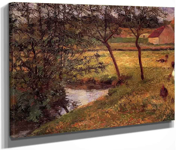 Stream, Osny By Paul Gauguin  By Paul Gauguin
