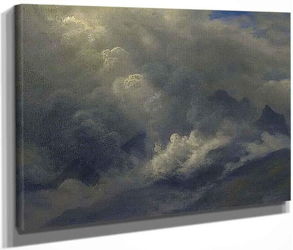 Study Of Counds And Mist By Albert Bierstadt By Albert Bierstadt