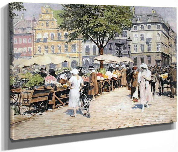 Summer, Hojbro Plads By Paul Gustave Fischer By Paul Gustave Fischer