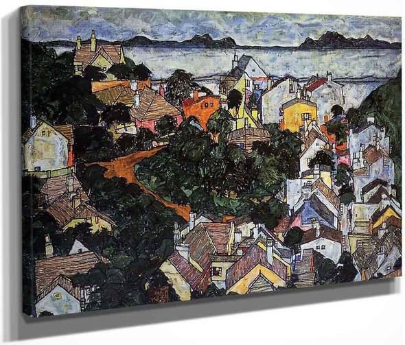 Summer Landscape, Krumau By Egon Schiele By Egon Schiele