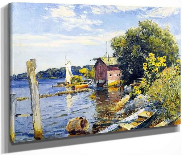 Summer On The Kalamazoo River, Saugatuck By Mathias J. Alten By Mathias J. Alten