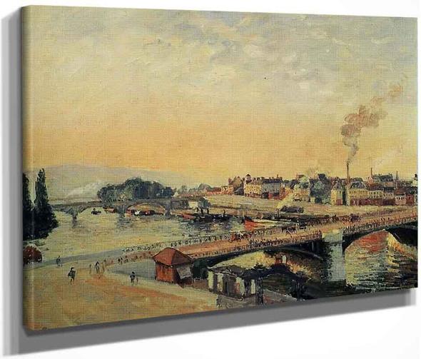 Sunrise, Rouen By Camille Pissarro By Camille Pissarro
