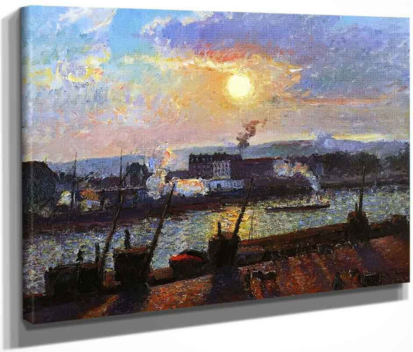 Sunset, Rouen By Camille Pissarro By Camille Pissarro