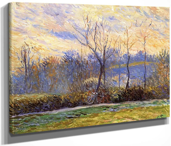 Sunset, Winter By Camille Pissarro By Camille Pissarro