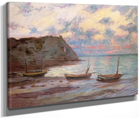 Sunset At Etretat By Claude Oscar Monet