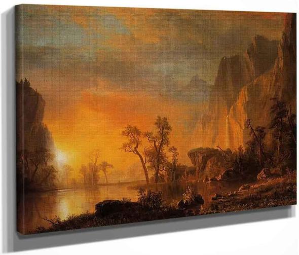 Sunset In The Rockies By Albert Bierstadt By Albert Bierstadt