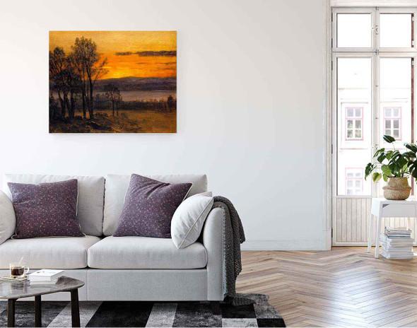 Sunset Sketch By Albert Bierstadt By Albert Bierstadt