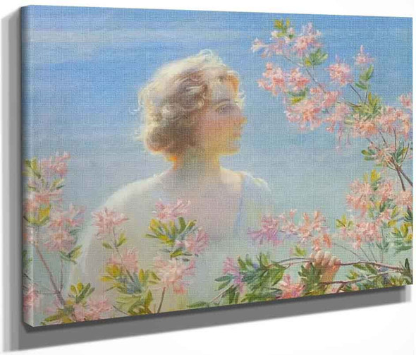 Sunshine And Azaleas By Charles Courtney Curran By Charles Courtney Curran