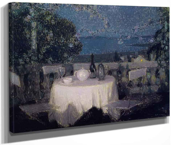 Table In The Moonlight By Henri Le Sidaner By Henri Le Sidaner