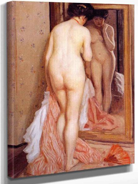 Before The Mirror  By Frederick Carl Frieseke By Frederick Carl Frieseke