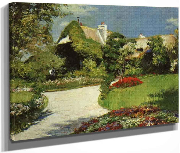 Thatched Cottage At Trouville By Gustave Caillebotte By Gustave Caillebotte