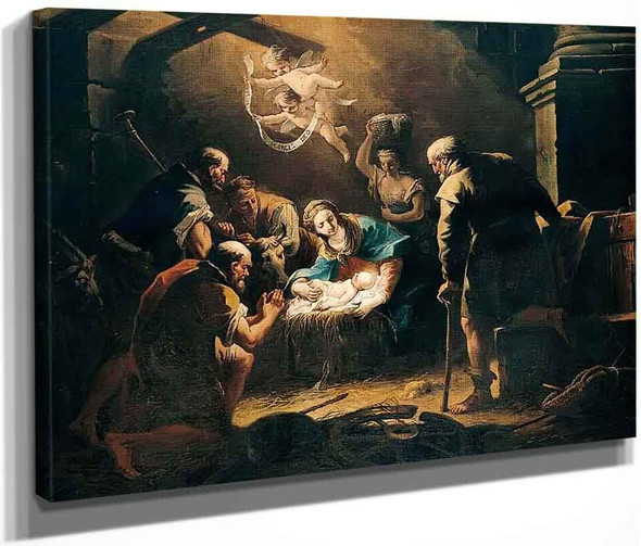 The Adoration Of The Shepherds By Gaspare Diziani