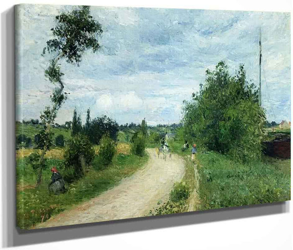 The Auvers Road, Pontoise By Camille Pissarro By Camille Pissarro