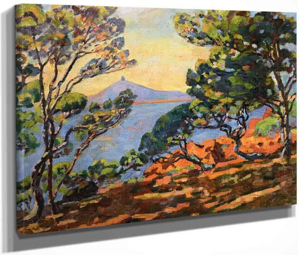 The Bay Of Agay And The Signal Station By Armand Guillaumin
