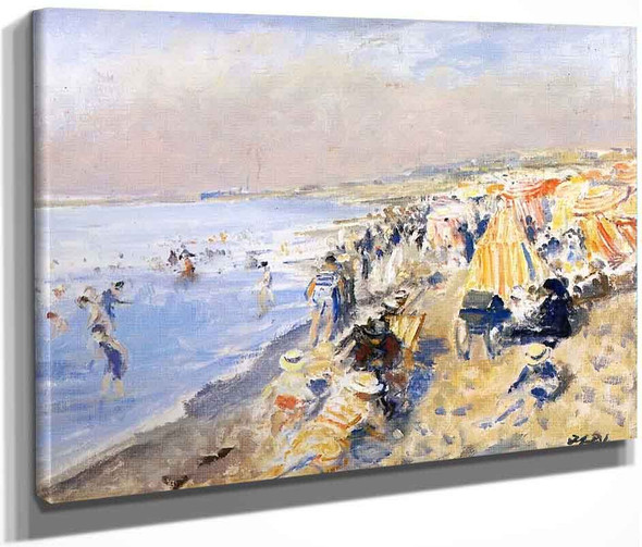 The Beach At Dieppe By Jacques Emile Blanche By Jacques Emile Blanche