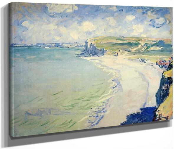 The Beach At Pourville By Claude Oscar Monet