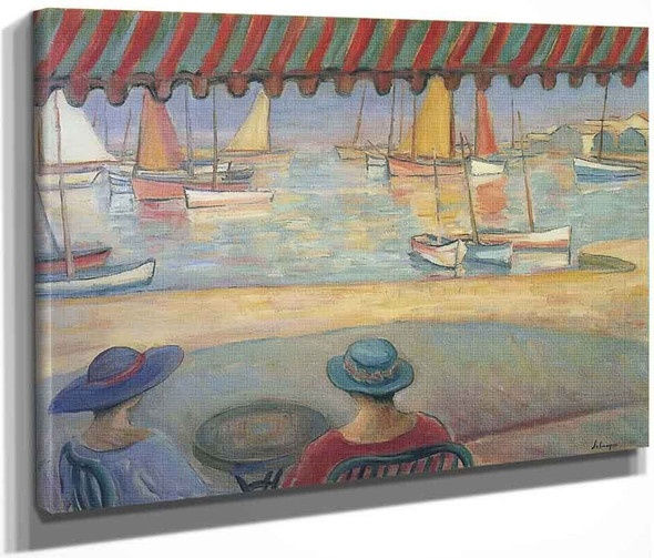 The Cafe On The Terrace At St Ile De Yeu By Henri Lebasque By Henri Lebasque