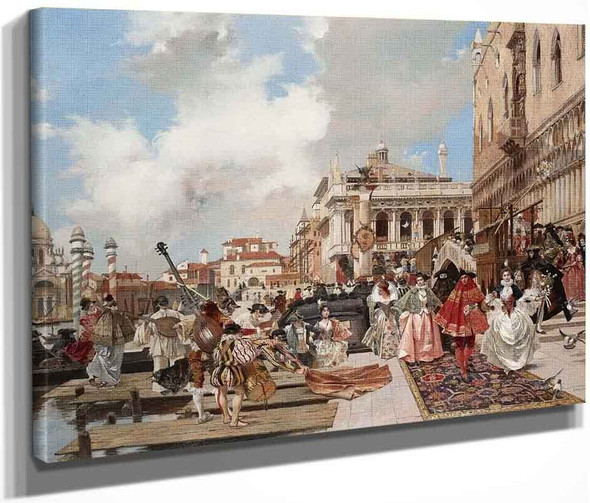 The Carnival In Venice By Francois Flameng