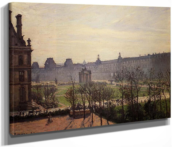 The Carrousel Autumn, Morning By Camille Pissarro By Camille Pissarro