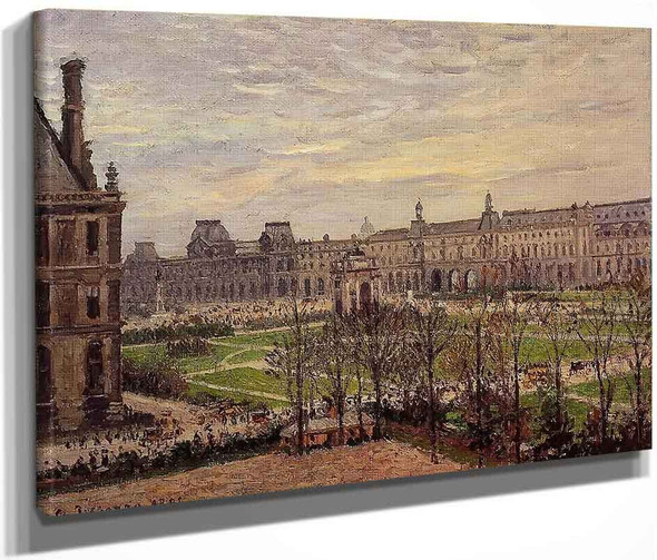 The Carrousel Grey Weather By Camille Pissarro By Camille Pissarro