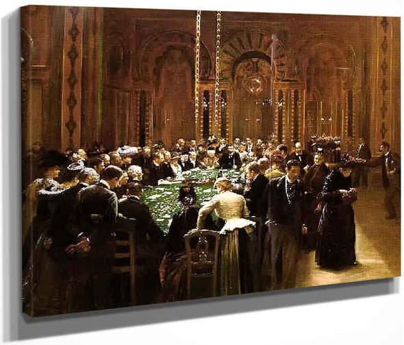 The Casino At Monte Carlo By Jean Georges Beraud By Jean Georges Beraud