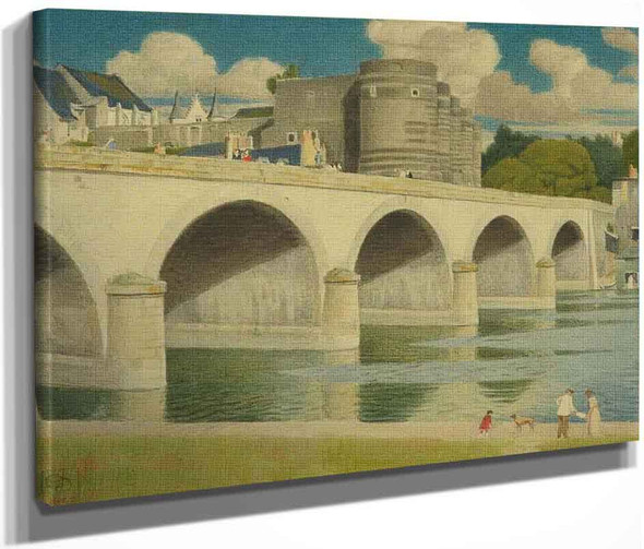 The Castle Of Angers, France By Joseph Edward Southall