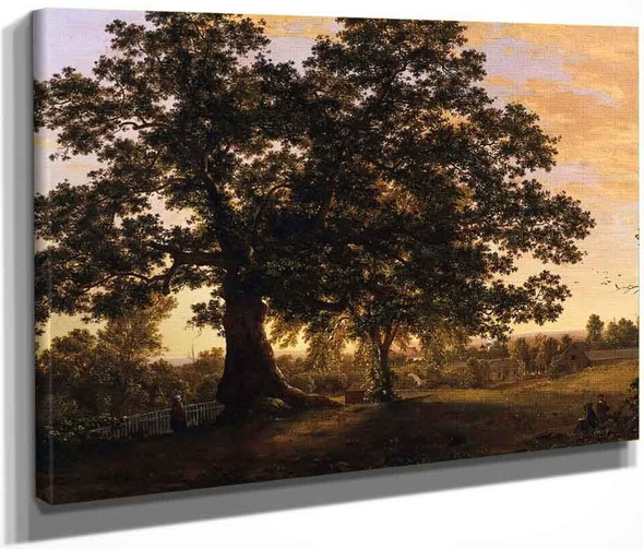 The Charter Oak At Hartford By Frederic Edwin Church By Frederic Edwin Church
