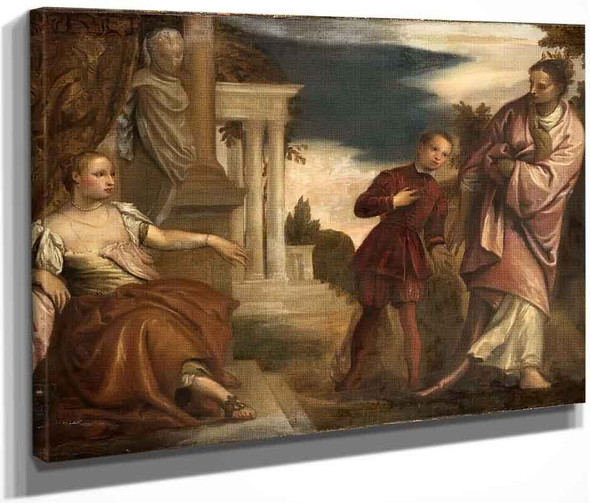 The Choice Between Virtue And Passion By Paolo Veronese