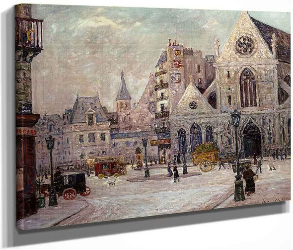 The Church Of Saint Nicolas Of The Fields, Rue Saint Martin By Maxime Maufra By Maxime Maufra