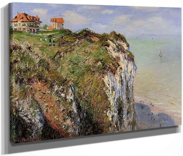 The Cliff At Dieppe By Claude Oscar Monet