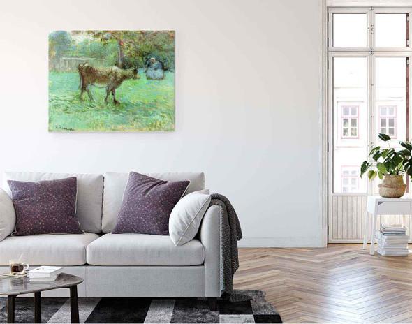 The Cowherd By Camille Pissarro By Camille Pissarro