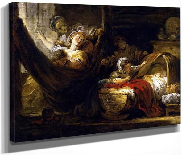 The Cradle By Jean Honore Fragonard  By Jean Honore Fragonard