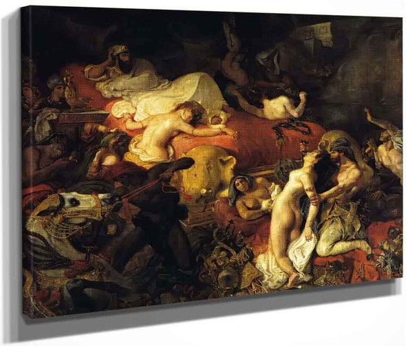 The Death Of Sardanapalus By Eugene Delacroix By Eugene Delacroix