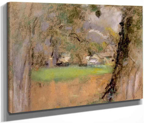 The Farm, View Between The Tree Trunks By Edouard Vuillard