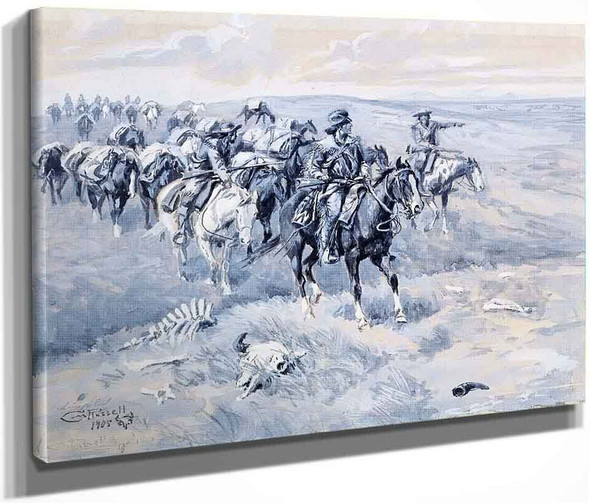 The First Trappers By Frederic Remington