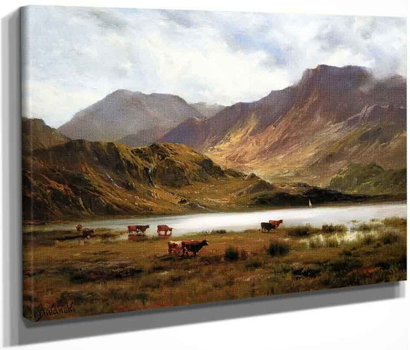 The Glyders From Llyn Ogwen By Alfred De Breanski, Sr.