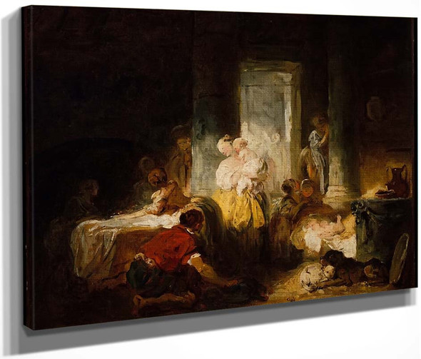 The Happy Mother By Jean Honore Fragonard  By Jean Honore Fragonard