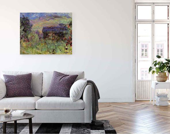 The House Seen Through The Roses By Claude Oscar Monet