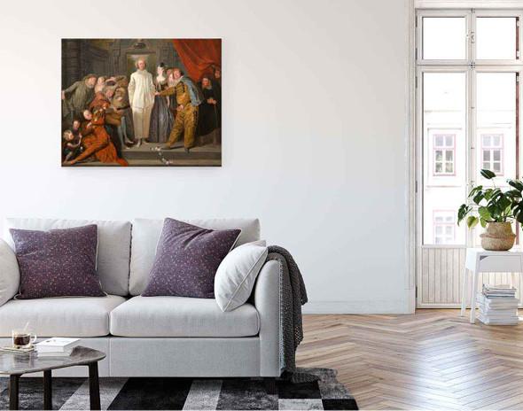 The Italian Comedians By Jean Antoine Watteau French1684  1721