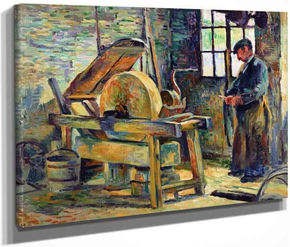 The Knife Grinder By Maximilien Luce By Maximilien Luce