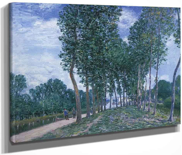 The Loing River At Moret By Alfred Sisley