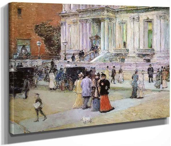 The Manhattan Club By Frederick Childe Hassam  By Frederick Childe Hassam